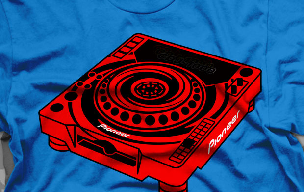 Pioneer CDJ 1000 Swirl T-Shirt & Clothing