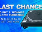 Last Chance to Buy A Technics sl 1210 turntable