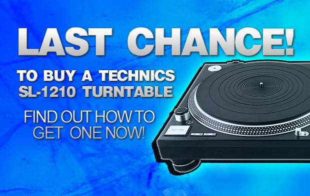 Last chance to buy Technics SL-1210 Mk2 Turntables