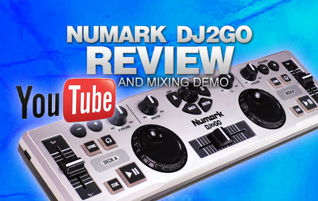 Numark DJ2Go Revfiew And Mixing Demo
