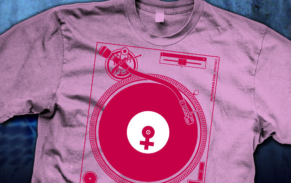 Female Turntable DJ Shirt