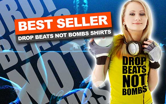 Drop Beats Not Bombs DJ Best Seller Shirt