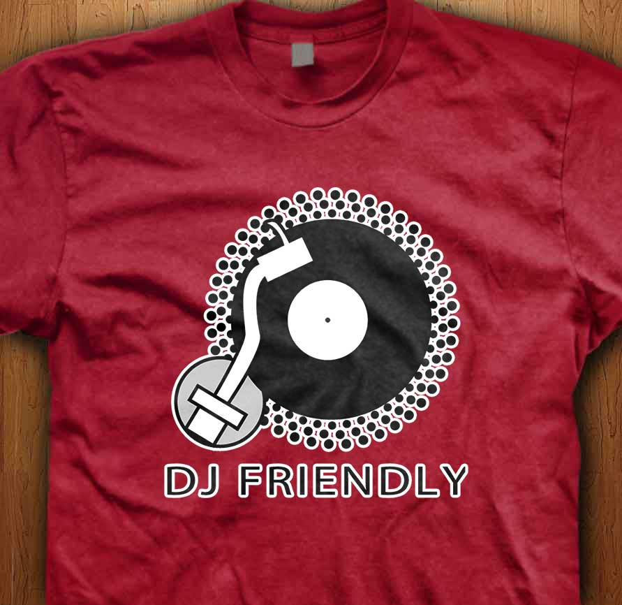 dj friendly t shirt dj clothing dj t shirts clubwear. Black Bedroom Furniture Sets. Home Design Ideas