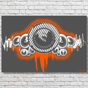 Speaker-Waves-Large-Poster