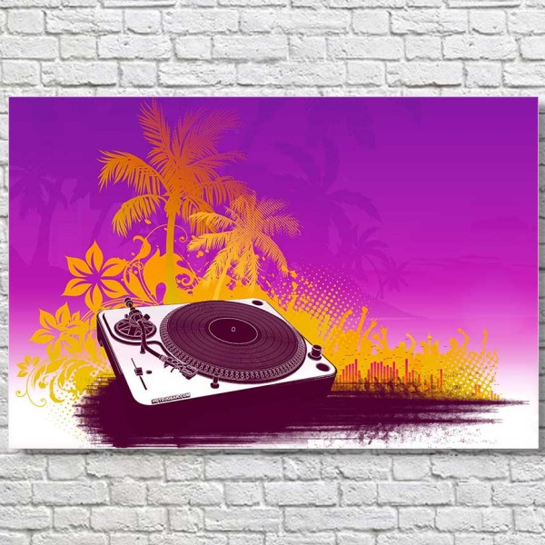 Turntable-Summer-Sounds-Large-Poster